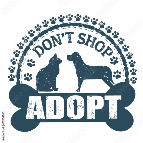Don't shop adopt stamp Wallpaper Mural