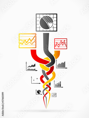 Abstract race vector illustration with concept infographics Poster