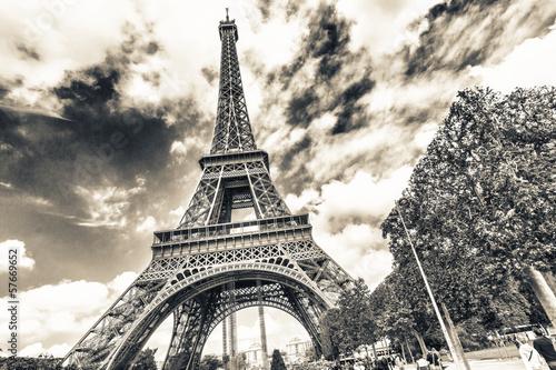In der monochromem Paris
