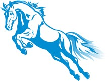 Prancing Blue Horse For The Ne...