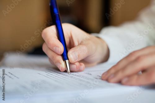 Fotomural paperwork