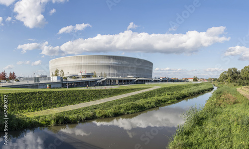 Cadres-photo bureau Stade de football Soccer stadium in Wroclaw city (Poland)