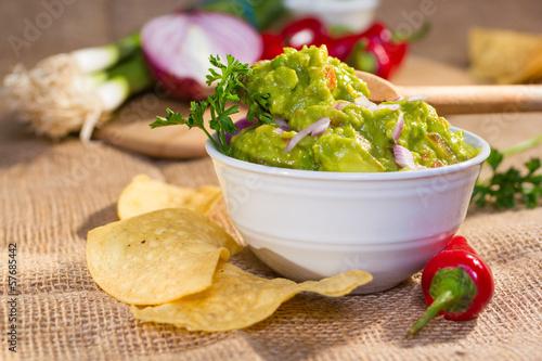 Fotografie, Obraz  Fresh guacamole.