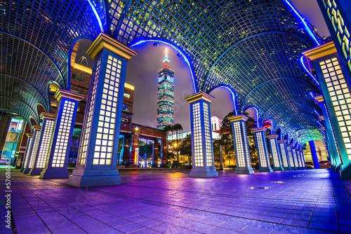Fototapeta premium Pejzaż Tajpej, Tajwan