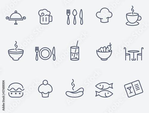 Fotobehang Restaurant Restaurant icon set