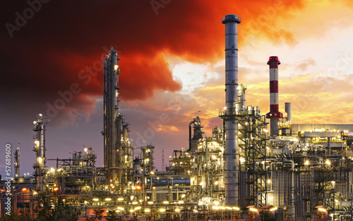 Staande foto Industrial geb. Oil indutry refinery - factory