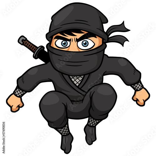 Photo  Vector illustration of Cartoon Ninja