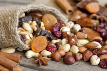 Nuts And Dried Fruits Mixed As...