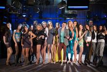 Eighteen People Having Fun And Dancing On Dancefloor At A Party
