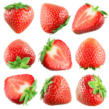 Strawberry. Fruits On White. C...