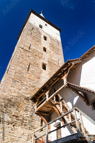 Spoed Foto op Canvas Oost Europa Mosna fortified church, Transylvania