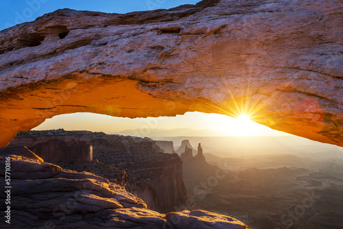 Poster Marron chocolat famous Mesa Arch