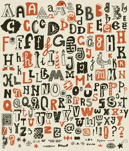 kaprysny-recznie-rysowane-alfabet