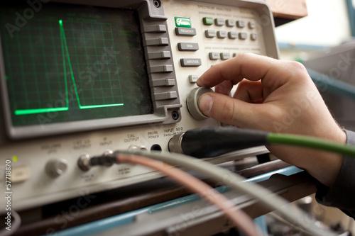 Fotografie, Obraz  Spectrum Analyzer panel with hand