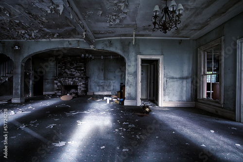 Abandoned house interior Wallpaper Mural