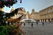 Genova, Piazza De Ferrari A Na...
