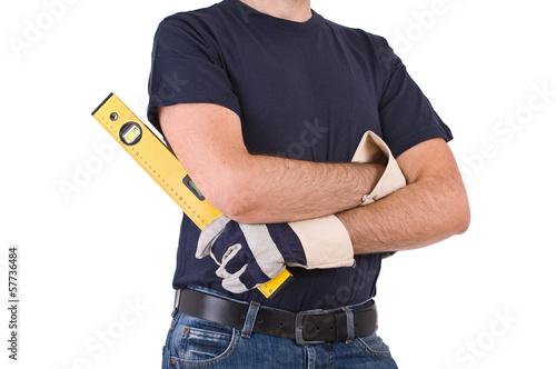 Deurstickers Vechtsport Blue collar worker.