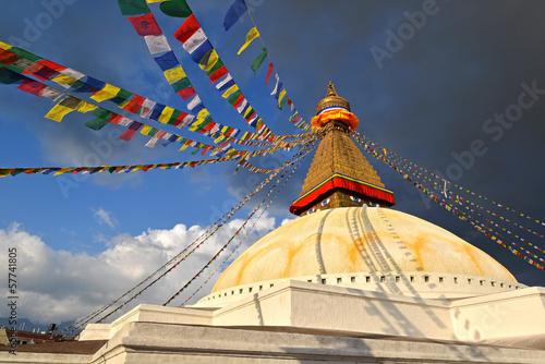 Boudhanath Buddhist stupa . Kathmandu, Nepal Fototapete
