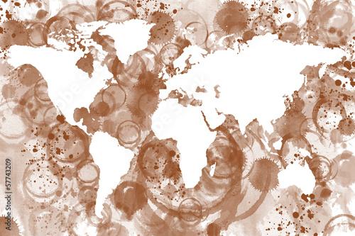 Obrazy mapa  mapa-swiata-kawy