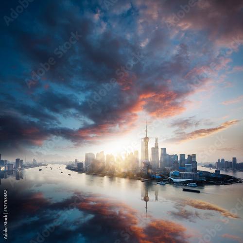 Poster New York sunrise city