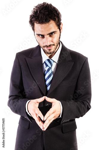 Fototapeta  evil businessman