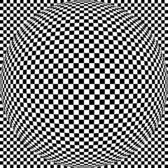 Abstract Square Background In Black And White Color