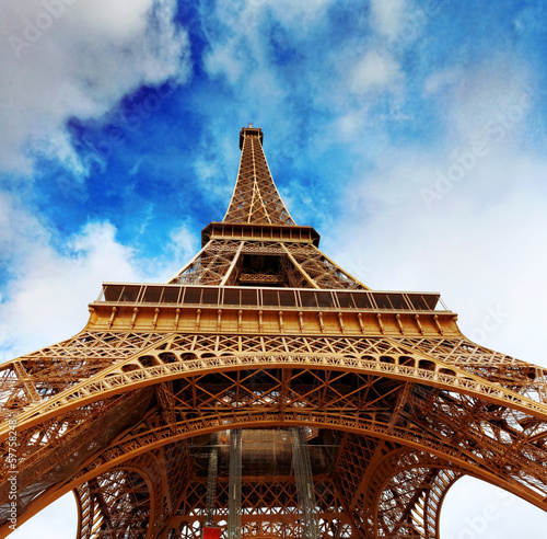 Fototapety, obrazy: View at foot of Eiffel Tower.Paris,France