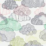 Fototapeta Fototapeta z niebem - Clouds seamless pattern