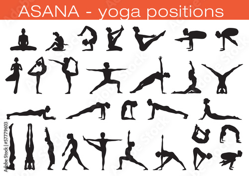 yoga positions Wallpaper Mural