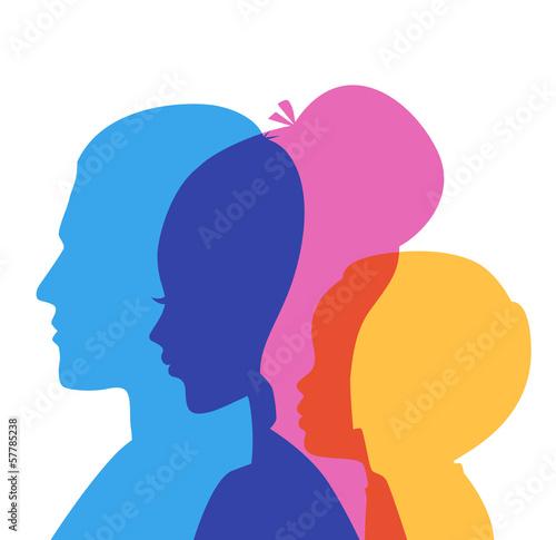 Fotografia Family icons head