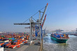 canvas print picture - Container Terminal - Hamburg.