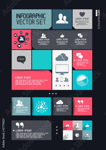 Photo  Modern Infographics Interface Vector