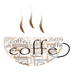 Panel Szklany Do gastronomi kawa