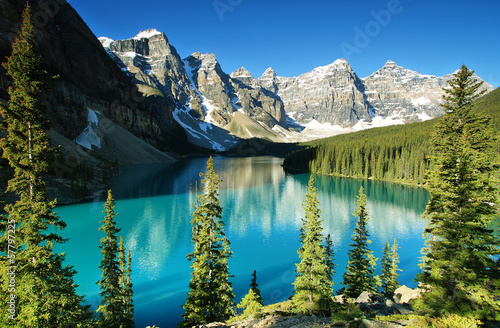 Poster de jardin Lac / Etang Lake Moraine, Banff national park