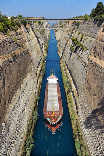 The Corinth Canal Canvas-taulu