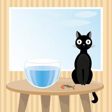Naughty Cat Ate Fish