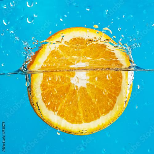 orange with splashes