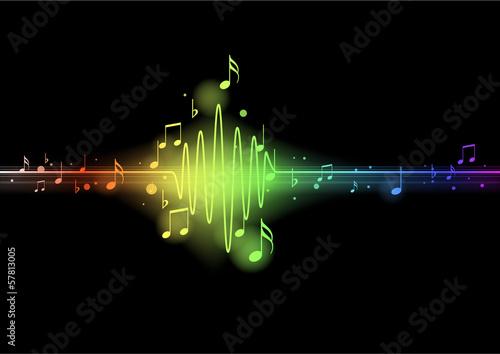 Foto  Onde sinusoïde musicale - arc en ciel