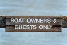 Boat Owners Sign