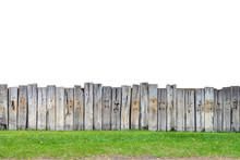 Old Wooden Fence Isolate
