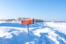 Winter Mail Box
