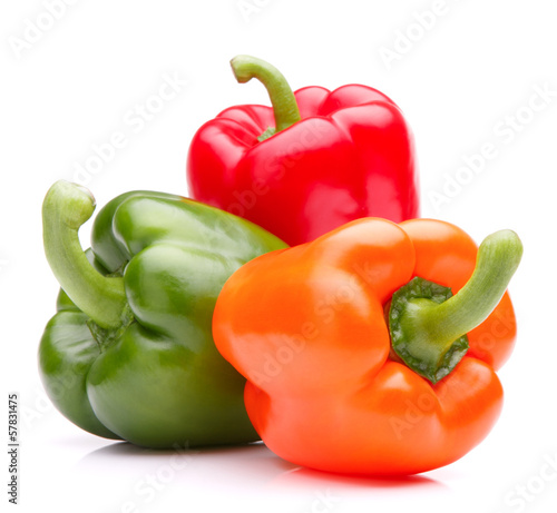 Sweet bell pepper isolated on white background cutout Slika na platnu