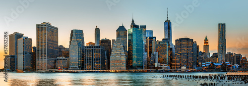 In de dag New York New York City skyline panorama