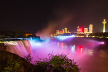 Niagara Falls Light Show At Ni...