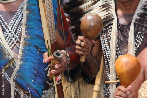 Photo Indios Potiguara, Tupì Guaranì, Brasile