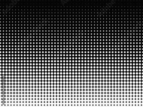 Valokuva  Halftone background. Black-white