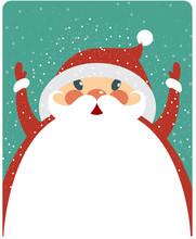 Christmas Card With Big Santa