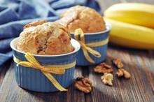 Banana Muffins In Baking Mold