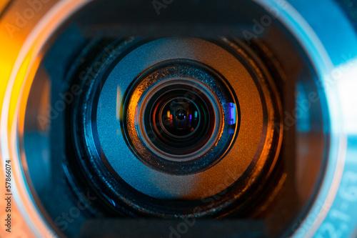 Fotografering Camcorder optics closeup