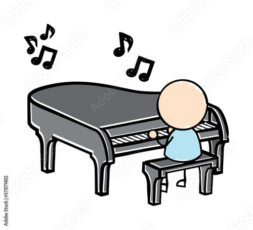 Vector drawing of a man playing piano on stage | Vector drawing, Playing  piano, Drawing piano